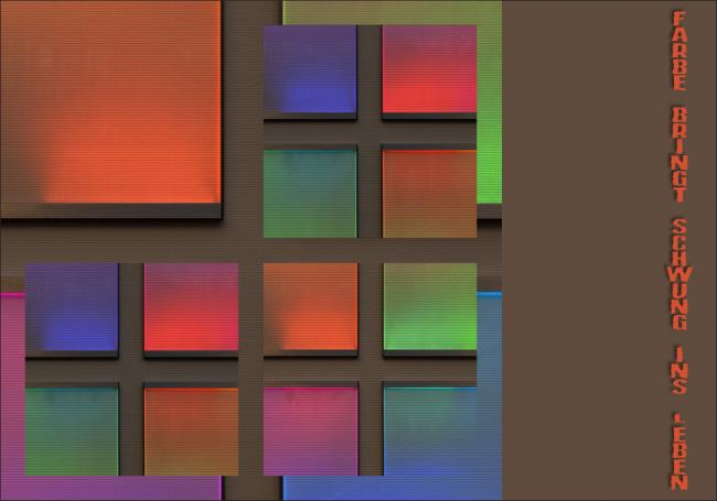 Farbe bringt Schwung ins Leben