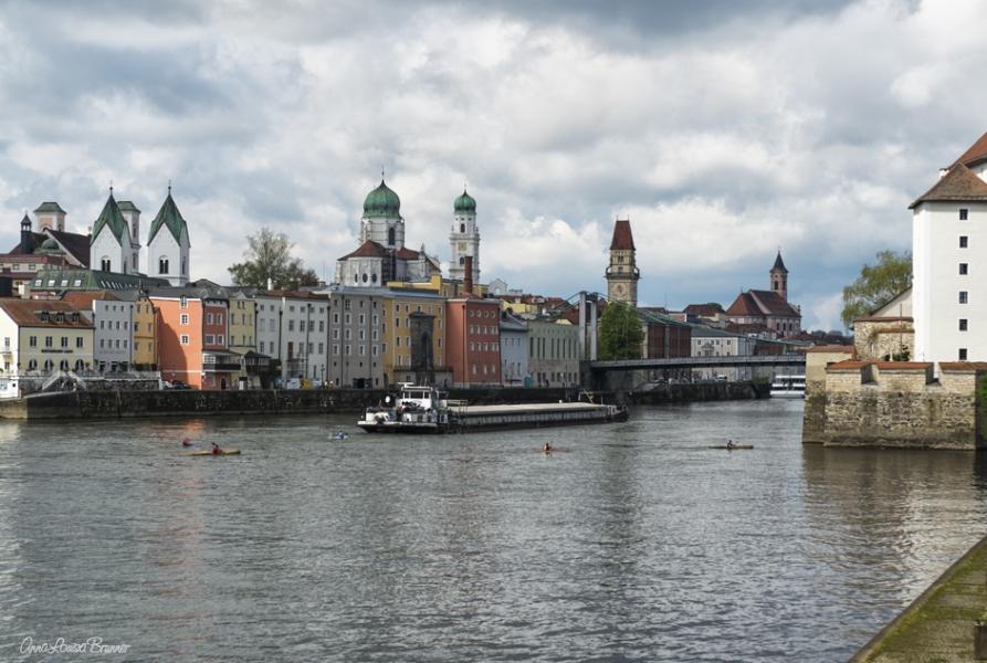 Passau - Blick auf Altstadt